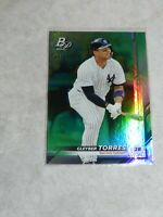 Gleyber Torres 2019 Bowman Platinum Green Refractor # 07/99 With 1st.Year Stats