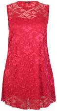 Maglie e camicie da donna rossi aderenti senza maniche