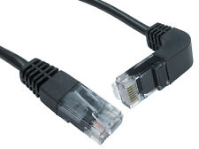 Network LAN Cable Right Angled 90 degree Head Cat5e RJ45 Ethernet Lead 1m 2m 3m