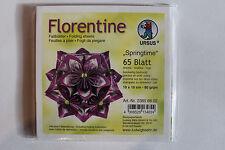Faltblätter Florentine Springtime 02; 65 Blatt 10 * 10  cm 80 g/qm