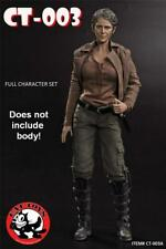 1/6 Scale Walking Dead Carol Head + Clothing Set Melissa McBride Cat Toys CT003