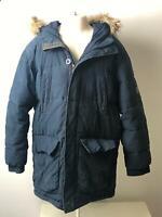 BOYS GAP KIDS NAVY HOODED WARM WINTER COAT JACKET KIDS AGE 10-11 YEARS