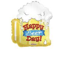 "Happy Birthday Beer Mug 18"" Balloon Birthday Party Decorations"