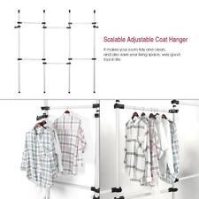 DIY Clothes Racks Hangers Adjustable Hanging Garment Wardrobe Stand Indoor
