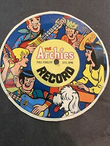 vintage 1969-1971 The Archies Full Fidelity 33 1/3 Record - Back of Cereal Box