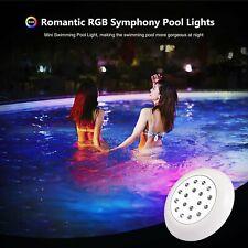More details for 10watt 12v led swimming pool pond lights hot tub rgb underwater lamp ip68 uk