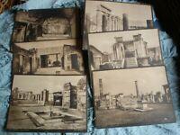 A SET OF 25 OLD PHOTOS OF POMPEI 23 X 17.5 CM BY EDIZ P BECCARINI  B/W RARE CARD