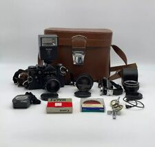 "1982 RUSSIAN USSR ""ZENIT-TTL"" CAMERA W/ 2 LENSES FULL SET, FULL KIT TESTED WORKS"