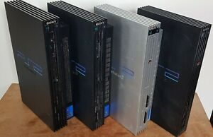 Sony Playstation 2 PS2 Fat Consoles Only Black Silver Bundle X 4 Faulty (Read)