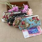 Fashion Ladies Small Wallet Canvas Retro Flower Hasp Coin Purse Clutch Mini Bag