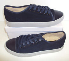 ex-MARKS AND SPENCER New Men's Navy Suede Leather Trainers Shoes Sizes UK 6-12