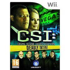 Nintendo Wii Spiel CSI - Tödliche Absichten Neuwertig