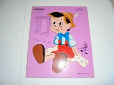 Vintage Playskool Disney Pinocchio Wood Tray Puzzle Preschool Toy