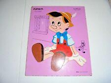 Vintage Playskool Disney Pinocchio Wood Tray Puzzle Preschool Toy