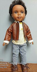 "Jacket Set OOAK handmade to fit 14.5"" Wellie Wisher Boy Dolls"