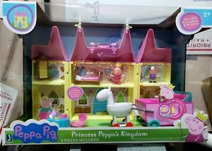 "Peppa Pig ""Princess Peppa s' Castle"" w/Princess Peppa & Sir George Carriage RARE"