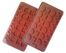 Candy Fancy Designs 4 styles  24 Cav Silicone Mold for Fondant GP Chocolate