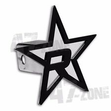"""RBP Chrome Star Hitch Cover 5"""" Inch Black Star For 2"""" Inch Hitch Receiver"""