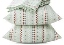 New NIB NWT King size printed flannel 100% cotton sheet set 3 PC flat & 2 shams
