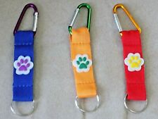 "Assorted Colors 5"" Animal Paw Print Key Chain"