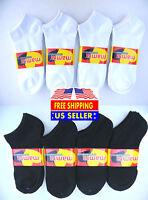 Mamia Casual White / Black Low Cut Ankle Socks No Show Calcetines Cortos tobillo