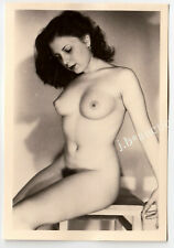 #806 ROESSLER AKTFOTO / NUDE WOMAN STUDY * Vintage 1950s Studio Photo - no PC !