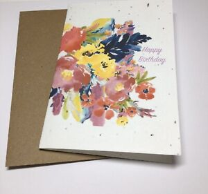 Eco friendly Greeting Card, Plantable, Seeded, Sustainable - wildflowers