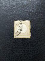 Germany #20 Used, 1872 5gr Bister Large Shield,  Scott Catalog Value $ 27.50