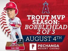 2017 LOS ANGELES ANGELS MIKE TROUT MVP BOBBLEHEAD 2nd of 3 SGA 5/16/17 NEW
