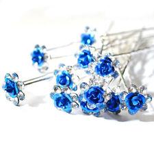 Accessoires de coiffure bleu cristal pour femme