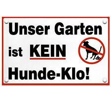 Verbotsschild Hunde Hinweisschild  Unser Garten ist kein Hunde Klo Warnschilder