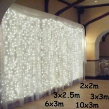 LED Icicle Curtain String Lights Christmas Fairy Lights Outdoor Garland Decor