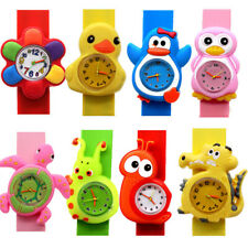 Cartoon Slap Snap On Silicone Wrist Watch Digital Boys Girls Children Kids Watch