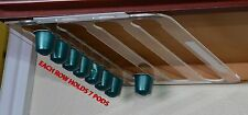 Under Cabinets Clear Coffee Pod Holder for Nespresso Lavazza Acrylic Display