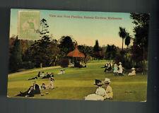 1913 Melbourne Australia postcard Cover to Brazil Rose Pavillion Botanic Garden