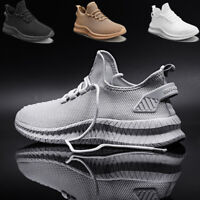 Men's Breathable Sneakers Lightweight Athletic  Sports Running Tennis Shoes Gym