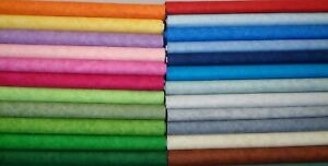 Makower Spraytime plain cotton fabric FQs, 1/2 metre, Metre. Sewing, Craft,Quilt