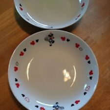 """2 of Micky'd soup dishes 8""""diameter x 1.5"""" hight from Japan"""