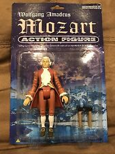 NEW Sealed Package Wolfgang Amadeus Mozart Action Figure & Bench Classical Rare