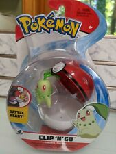 Pokemon Clip n Go Chikorita Figure Wicked Cool Toys