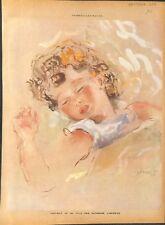 Portrait de la fille de Katherine Librowicz peintre Pologne ILLUSTRATION 1949