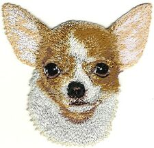 """3.25"""" Chihuahua Portrait Dog Breed Embroidery Patch"""