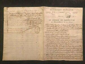 ANTIQUE-Original MANUSCRIPT- FRANCE~De La Stura~1805 Handwritten 2pg  #833