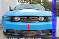 GTG 2010 - 2012 Ford Mustang GT 1PC Polished Overlay Bumper Billet Grille Grill