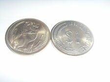 1968/1969/1970/1971/1974/1981 old Singapore One dollar Coin