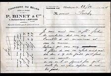 """MONTLUCON (03) ALIMENTATION """"CONFISERIE DU BELIER / P. BINET"""" en 1928"""