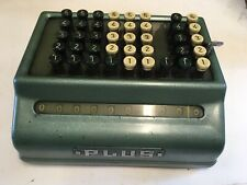 Vintage Bell Punch Company Plus Adding Machine Retro Calculator Fully Working