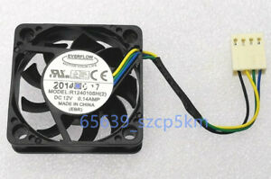 1PCS EVERFLOW R124010SH(2) 4010 4CM 12V 0.14A 4PIN PWM Silent Cooling Fan