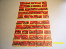 2 Rare Unused Sheets of 25 Historic York, Pa (First Capital) Cinderella Stamps