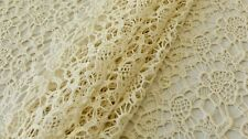 GUIPURE LACE FABRIC - CREAM COLOUR - SYNTHETIC